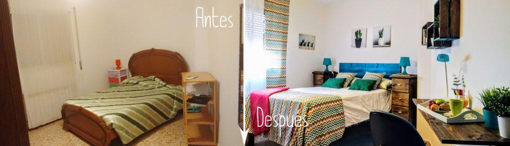 antes y después decoración dormitorio